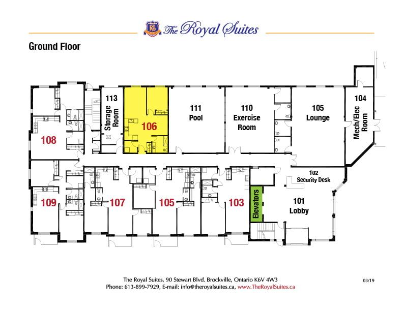 Royal Suites Ground Floor Plan