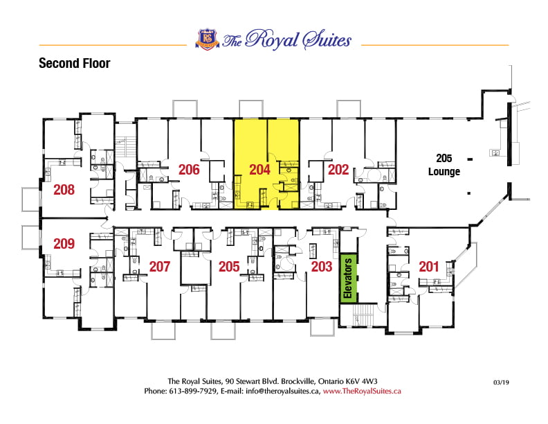 Royal Suites Second Floor Plan