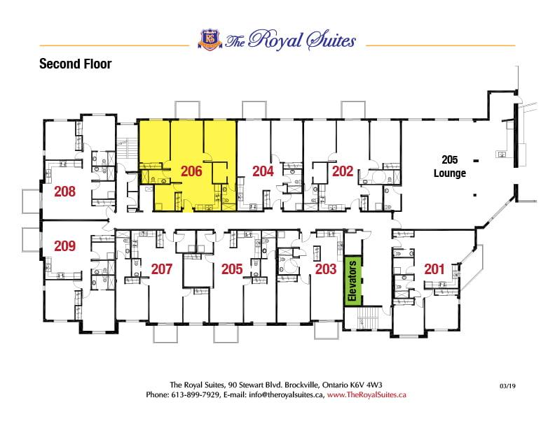 Royal Suites Second Floor Plan